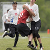 Carleton CUT v U Mass Zoodisc Men's Division quarterfinals at day 3 of USA Ultimate D1 College National Championships in Franklin, Ohio