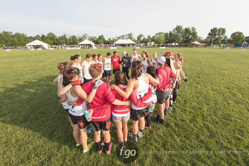 Stanford University Superfly v Princeton University Princess Layout Women's Division quarterfinals at day 3 of USA Ultimate D1 College National Championships in Mason, Ohio