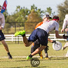 Raleigh Ring of Fire v Chicago Machine Men's Quarterfinals at the USA Ultimate National Championships in Sarasota - Bradenton, Florida on 20 October 2017