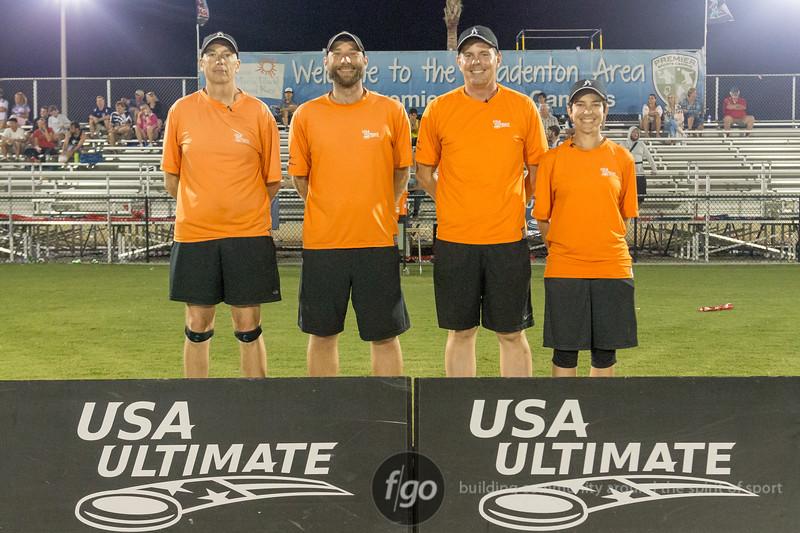 Seattle Mixtape v Boston slow White Mixed Division Semifinal at USA Ultimate Nationals in Sarasota-Bradenton, Florida on 21 October 2017