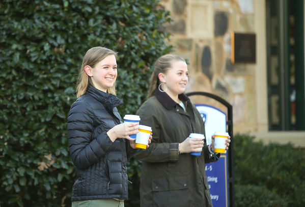 Students and Faculty Give a Little Warmth During Carpool!