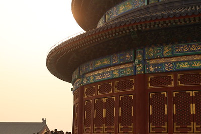 Students visited Temple of Heaven at sunset.  Photo credit, Daniel Hass.