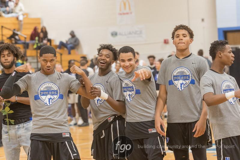 Hopkins Royals v Minneapolis North Polars Boys Basketball on 13 February 2018