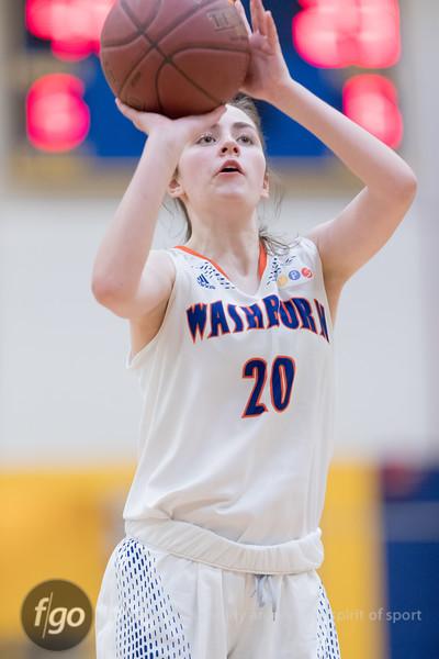 Minneapolis Washburn Millers v Minneapolis Edison Tommies Girls Basketball on 20 February 2018