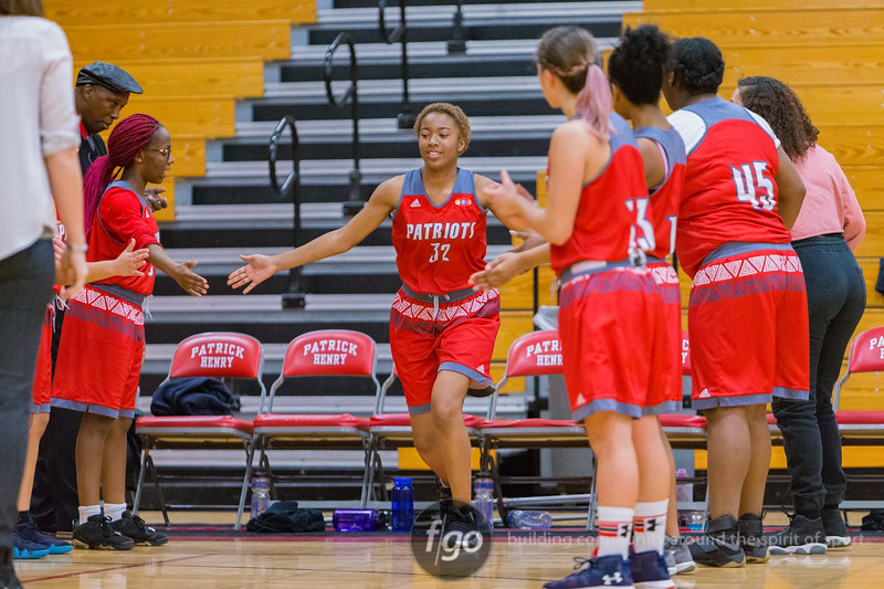 St. Paul Highland Park Scots v Minneapolis Patrick Henry girls basketball at Minneapolis Henry on 11 January 2018
