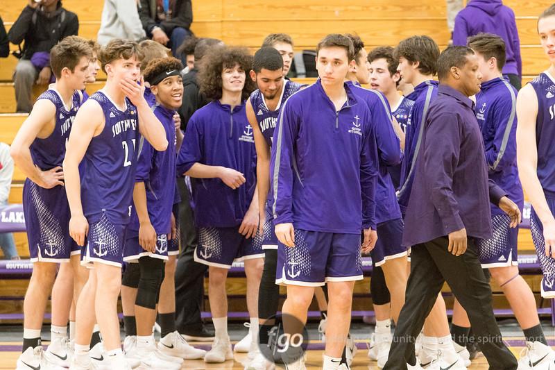 The Blake School Bears v Minneapolis Southwest Lakers boys basketball at Minneapolis Southwest on 16 January 2018