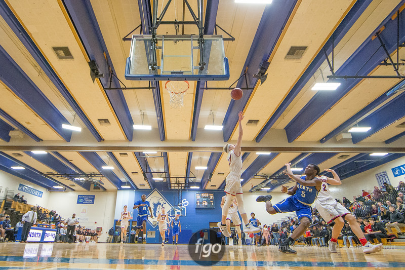 Eden Prairie Eagles v Minneapolis North Polars boys basketball at Minneapolis North on 3 January 2018