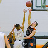 St. Paul Johnson Governors v Minneapolis South Tigers boys basketball at Minneapolis South on 8 January 2018