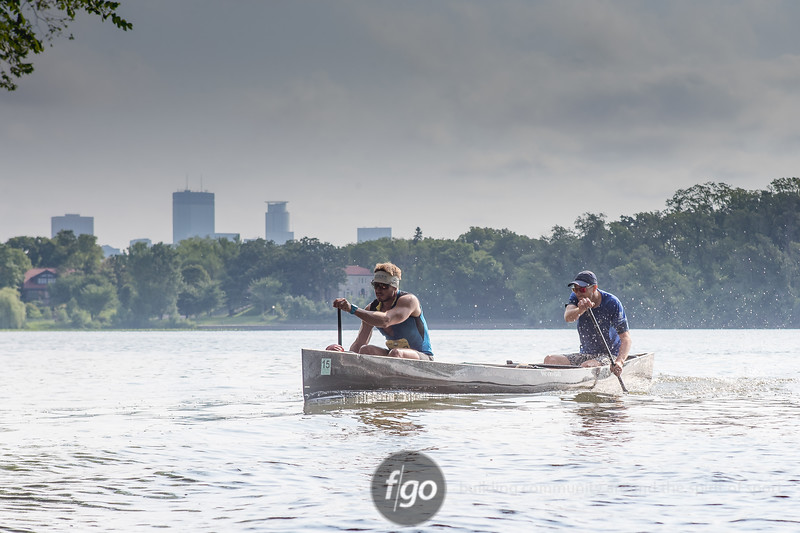 2108 TriLoppet paddling segment on Lake of the Isles on July 22, 2018