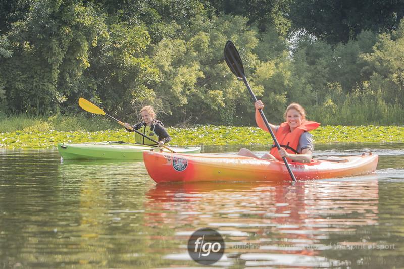 2108 TriLoppet paddling segment on Lake of the Isles on July 22, 2018