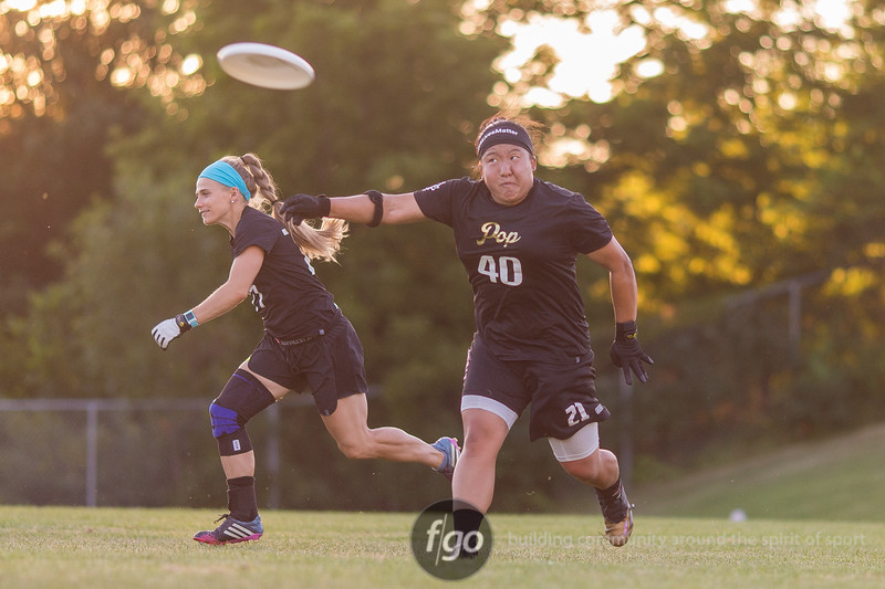 Black Widows v Pop Ultimate Exhibition Game at Harding High School in st. Paul, Minnesota