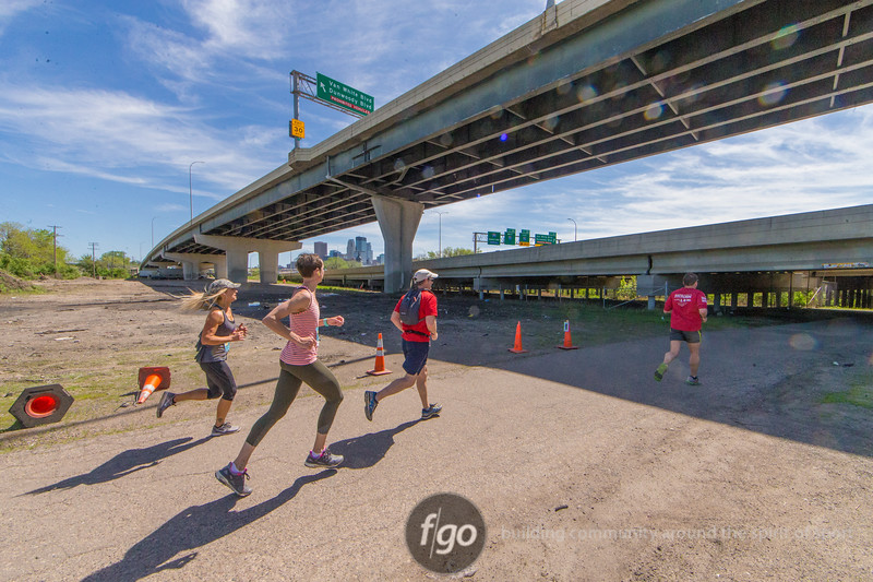 2018 City Trail Loppet, 10k and 10 mile runs from downtown Robbinsdale to the Spoon & Cherry at Minneapolis' Walker Art Center Sculpture Garden