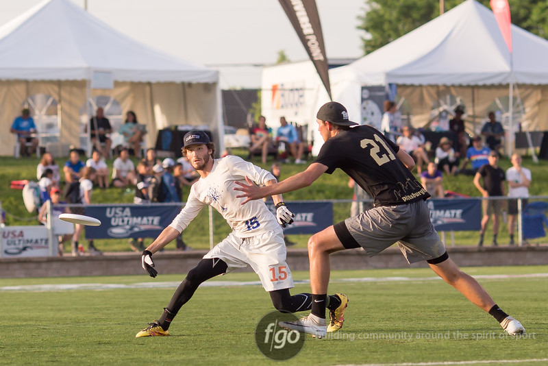 2018 USA Ultimate D1 College Championships day 3 - Men's semifinals between Carleton CUT and Pitt En Sabah Nur at Uihlein Park in Milwaukee, Wisconsin