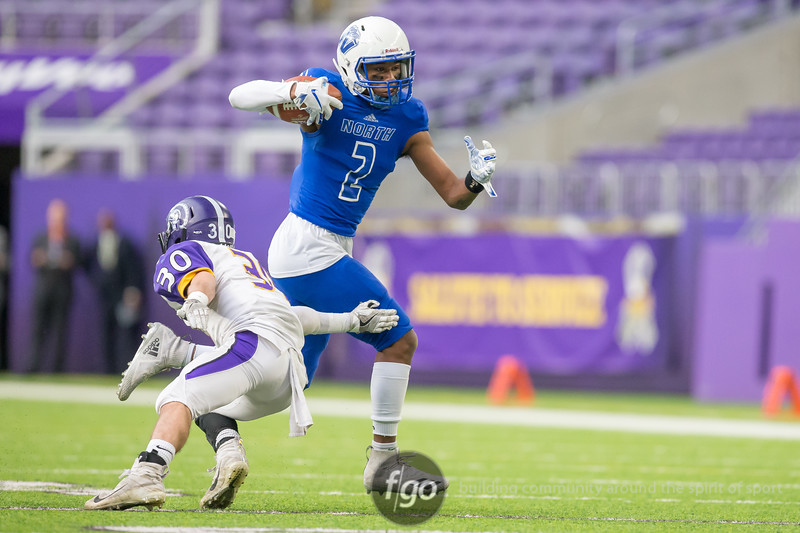 Minnesota State High School League 2018 State AA Football Championships Semifinal - Minneapolis North Polars v Barnesville High School Trojans on November 16, 2018 at US Bank Stadium in Minneapolis, Minnesota