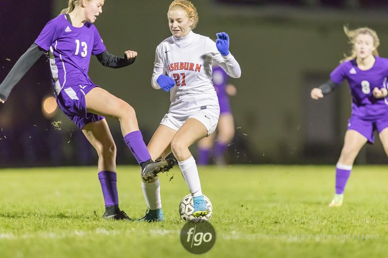 Minneapolis Southwest v Minneapolis Washburn Girls Soccer Section 6AA Quarterfinals at Southwest on 11 October 2018