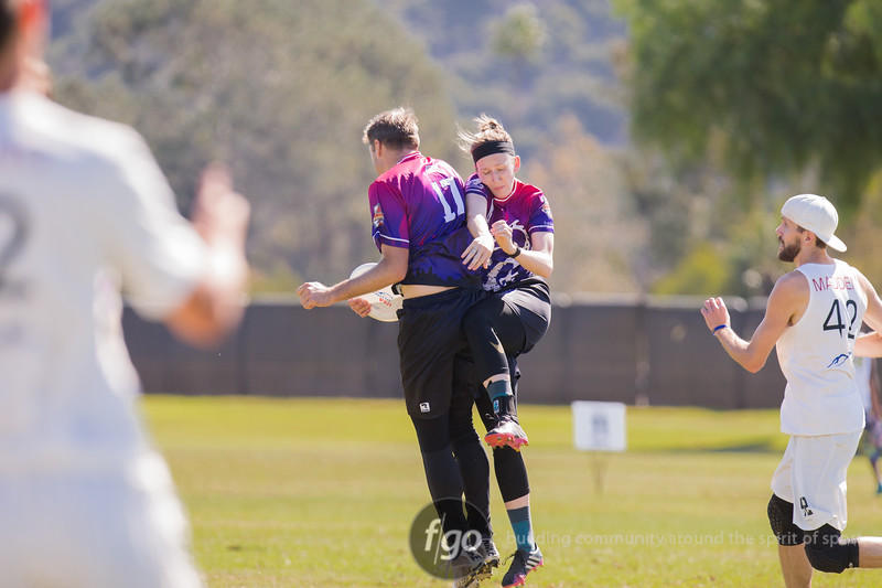USAU National Championships in Del Mar, California 18 October 2018 - Mixed Division Minneapolis Drag'n Thrust v San Francisco Polar Bears