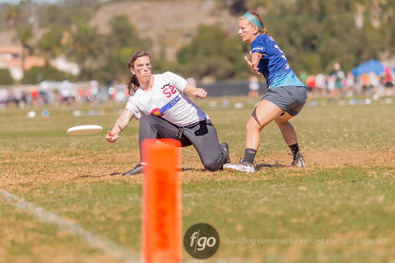 USAU National Championships in Del Mar, California 19 October 2018 - Women's Division Denver Molly Brown v Atlanta Ozone