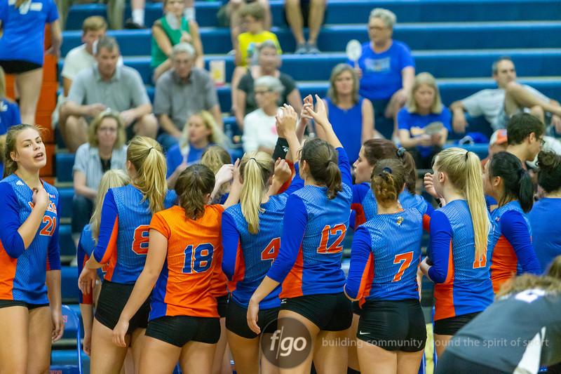 Hopkins v Minneapolis Washburn Volleyball at Minneapolis Washburn on September 16, 2019