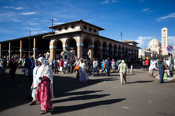 Shoppers at the weekly bazaar in the city of Asmara in Eritrea.