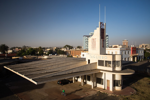 The Art Deco Fiat Tagliero building in Asmara, Eritrea.