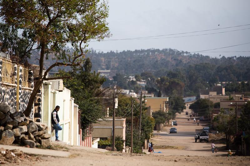 Waiting on the backstreets of capital city Asmara in Eritrea.