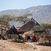 Hut homes of the Bilen ethnic group in northern Eritrea.