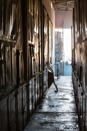 Back alleyways of the market in the town of Keren in northern Eritrea.