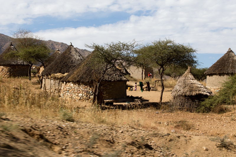 A village of the Bilen ethnic group in north Eritrea.