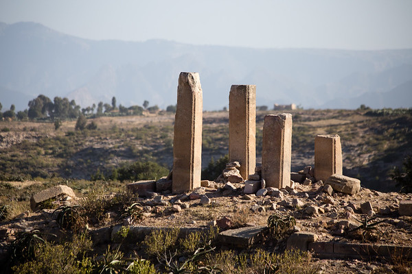 A ruined temple on the Qohaito historic site in southern Eritrea.