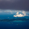 Praslin island of the Seychelles as seen from the air.