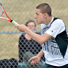 WARREN DILLAWAY / Star Beacon<br /> JESSE BLAIR of Lakeside returns a shot during third singles action with Geneva on Thursday at Lakeside.