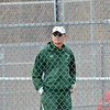 WARREN DILLAWAY / Star Beacon<br /> BOB WALTERS, Lakeside boys tennis coach, watches the action on Thursday during a home match with Geneva.