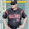 WARREN DILLAWAY / Star Beacon<br /> SCOTT BARBER, Jefferson baseball coach, watches the action on Friday during a home game with Lakeview at Cotton Field at Havens Complex in Jefferssson Township.