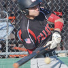 WARREN DILLAWAY / Star Beacon<br /> COLTEN WILBER of Jefferson makes contact with a pitch during a home game with Lakeview on Friday at Cotton Field at Havens Complex in Jefferson Township.