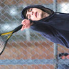 WARREN DILLAWAY / Star Beacon<br /> MATT PINELLI of St. John serves on Friday during a first singles match with Brandon Ortiz of Madison.
