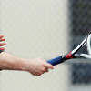 WARREN DILLAWAY / Star Beacon<br /> BRANDON ORTIZ of Madison returns a shot during a home first singles match on Friday with St. John's Matt Pinelli.