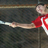 WARREN DILLAWAY / Star Beacon<br /> KEVIN MAURER of Edgewood serves during first doubles action with Grand River Academy on Monday at Edgewood.