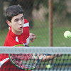 WARREN DILLAWAY / Star Beacon<br /> KEVIN MAURER of Edgewood prepares to return a shot on Monday during a first doubles match with Grand River Academy.