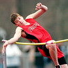 WARREN DILLAWAY / Star Beacon<br /> BLAKE PERRY of Jefferson competes in the high jump during a home meet Tuesday with Girard and Champion.