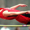 WARREN DILLAWAY / Star Beacon<br /> DAVID CHASE of Jefferson clears the bar during the high jump competition at a Tuesday home meet with Girard and Champion.