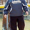 WARREN DILLAWAY / Star Beacon<br /> KERI WEIR, Lakeside softball coach, watches the action from the third base coaching box during a game at Jefferson on Monday afternoon.