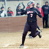 WARREN DILLAWAY / Star Beacon<br /> ALYSSA IRONS scores a run for Jefferson during a home game with Lakeside Monday.