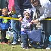 WARREN DILLAWAY / Star Beacon<br /> CHILDREN PREPARE to dash for eggs on Saturday during the Lake Shore Park Easter Egg Hunt in Ashtabula Township.