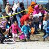 WARREN DILLAWAY / Star Beacon<br /> CHILDREN DASH for eggs on Saturday during the Lake Shore Park Easter Egg Hunt in Ashtabula Township.