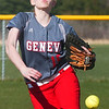 WARREN DILLAWAY / Star Beacon<br /> KRISTEN SCHUPSKA  pitches for Geneva during a home  game with Lakeside Monday afternoon.