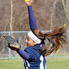 WARREN DILLAWAY / Star Beacon<br /> ALICIA NGIRAINGAS pitches for St. John during a Thursday afternoon game with Horizon Academy  at Massucci Field in Ashtabula.