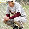 WARREN DILLAWAY / Star Beacon<br /> CHASE THURBER of Pymatuning Valley takes a break durig a pitching change during a home game with Grand Valley on Monday afternoon.