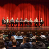 WARREN DILLAWAY / Star Beacon<br /> THE ASHTABULA County Commissioners met Monday morning at Jefferson High School. Seniors at the school also heard other government representatives share their job descriptions with the students.