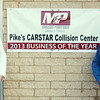 WARREN DILLAWAY / Star Beacon<br /> PIKE'S CARSTAR COLLISION CENTER, located on Route 528 in Madison, was recognized as 2013 Business of the Year by the Madison-Perry Area Chamber of Commerce. Doug Pike, general manager, and Tamara Pike, office manager, pose at the business.