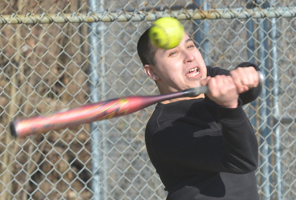 WARREN DILLAWAY / Star Beacon<br /> JULIAN ECHEVERRIA of Ashtabula works on his hitting at Cederquist Park in Ashtabula on Saturday afternoon.